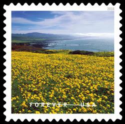 Pigeon Point - Pescadero, California United States Postage Stamp | O Beautiful