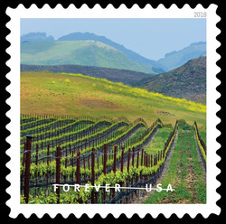 Edna Valley United States Postage Stamp | O Beautiful