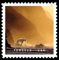Napali Coast State Wilderness Park United States Postage Stamp | O Beautiful