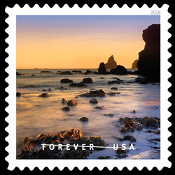 Lone Ranch Beach United States Postage Stamp | O Beautiful