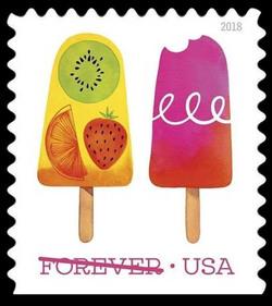 Frozen Treats United States Postage Stamp   Frozen Treats