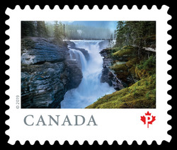 Athabasca Falls, Jasper National Park - Alberta Canada Postage Stamp | From Far and Wide