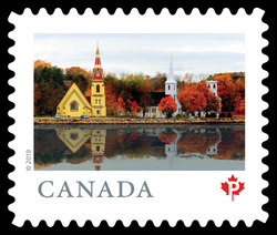 Mahone Bay - Nova Scotia Canada Postage Stamp | From Far and Wide