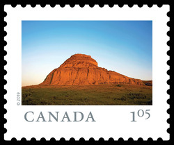 Castle Butte, Big Muddy Badlands - Saskatchewan Canada Postage Stamp | From Far and Wide