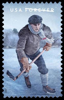 The History of Hockey - Vintage Era United States Postage Stamp | The History of Hockey