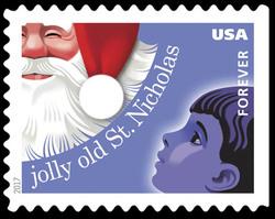 Jolly Old Saint Nicholas United States Postage Stamp | Christmas Carols
