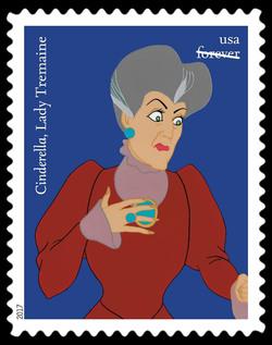 Lady Tremaine - Cinderella United States Postage Stamp | Disney Villains