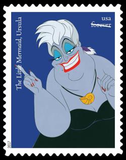 Ursula - The Little Mermaid United States Postage Stamp | Disney Villains