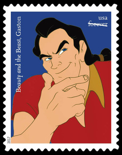 Gaston - Beauty and the Beast United States Postage Stamp | Disney Villains