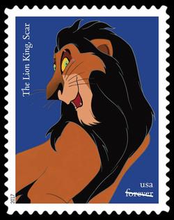 Scar - The Lion King United States Postage Stamp | Disney Villains
