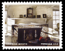 Big Room - 1988 United States Postage Stamp | Andrew Wyeth