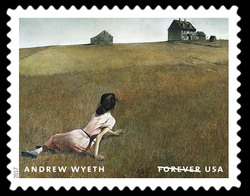 Christina's World - 1948 United States Postage Stamp | Andrew Wyeth