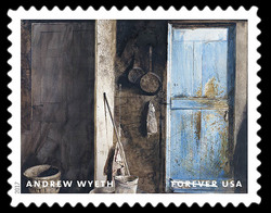 Alvaro and Christina - 1968 United States Postage Stamp | Andrew Wyeth