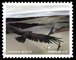 Soaring - 1942-1950 United States Postage Stamp | Andrew Wyeth