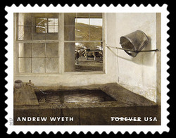 Spring Fed - 1967 United States Postage Stamp | Andrew Wyeth