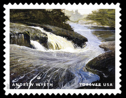 The Carry - 2003 United States Postage Stamp | Andrew Wyeth