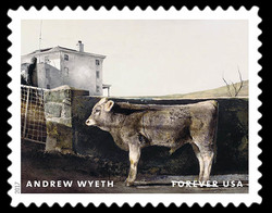Young Bull - 1960 United States Postage Stamp | Andrew Wyeth
