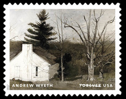 My Studio - 1974 United States Postage Stamp | Andrew Wyeth