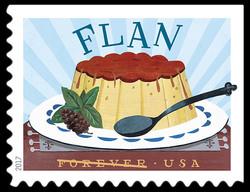Flan United States Postage Stamp | Delicioso