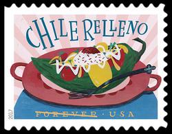 Chile Relleno United States Postage Stamp | Delicioso