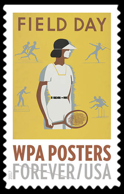 Field Day United States Postage Stamp | WPA Posters