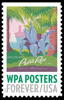 Discover Puerto Rico, USA United States Postage Stamp | WPA Posters
