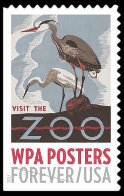Visit the Zoo United States Postage Stamp | WPA Posters