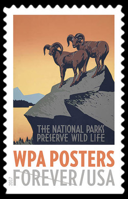 The National Parks Preserve Wild Life United States Postage Stamp | WPA Posters