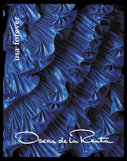 Blue Dress United States Postage Stamp | Oscar de la Renta