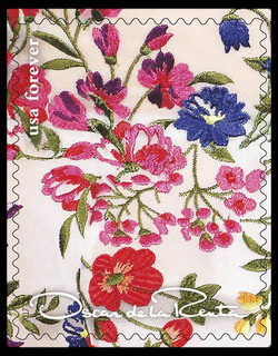 Floral Pattern United States Postage Stamp | Oscar de la Renta
