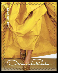 Yellow Dress United States Postage Stamp | Oscar de la Renta