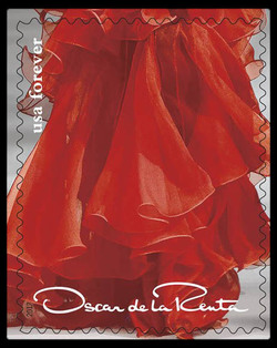 Red Dress United States Postage Stamp | Oscar de la Renta