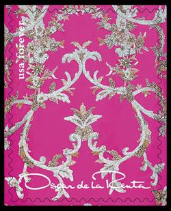 Pink Pattern United States Postage Stamp | Oscar de la Renta
