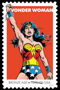 Bronze Age United States Postage Stamp | Wonder Woman