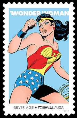 Silver Age United States Postage Stamp | Wonder Woman