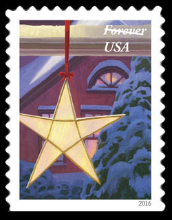 Christmas Star United States Postage Stamp | Holiday Windows