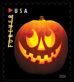 Jack-O'-Lantern United States Postage Stamp | Jack-O'-Lanterns