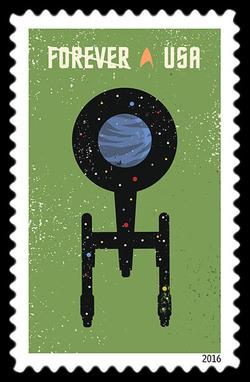 Starship Enterprise United States Postage Stamp | Star Trek