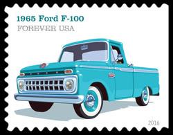 1965 Ford F-100 United States Postage Stamp | Pickup Trucks