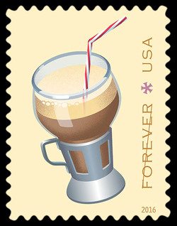 Egg Cream United States Postage Stamp | Soda Fountain Favorites