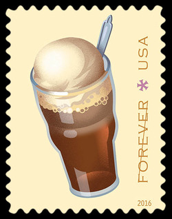 Root Beer Float United States Postage Stamp | Soda Fountain Favorites
