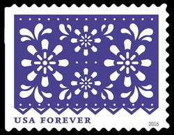 Purple Flowers United States Postage Stamp | Colorful Celebrations