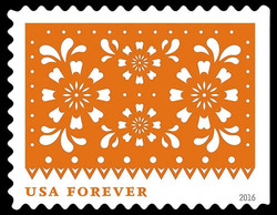 Orange Flowers United States Postage Stamp | Colorful Celebrations