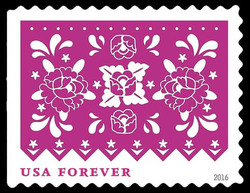 Pink Flowers United States Postage Stamp | Colorful Celebrations
