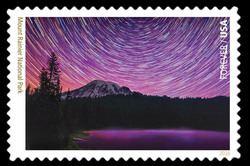 Mount Rainier National Park - Washington United States Postage Stamp | National Parks