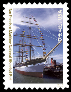 The Balclutha at San Francisco Maritime National Historical Park - California United States Postage Stamp | National Parks