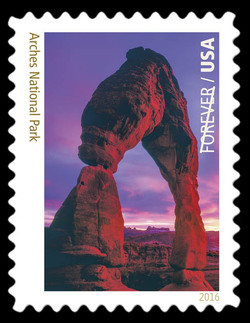 Arches National Park - Utah United States Postage Stamp | National Parks