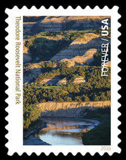 Theodore Roosevelt National Park - North Dakota United States Postage Stamp | National Parks