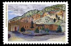 Bandelier National Monument - New Mexico United States Postage Stamp | National Parks