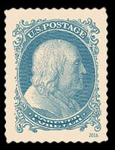 1851 1-cent Benjamin Franklin United States Postage Stamp | Classics Forever